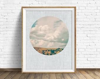 "landscape, woodland, nature, photography, instant download art, printable art, large art, large wall art, print, art - ""Golden Hills Storm"""