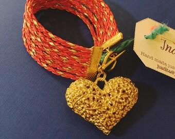 Indulgence Orange Gold Bracelet