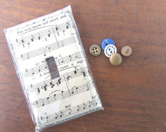 Lightswitch Plate Cover Vintage Sheet Music Switchplate