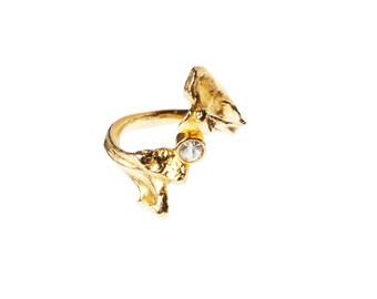 Bone Ring with Stone