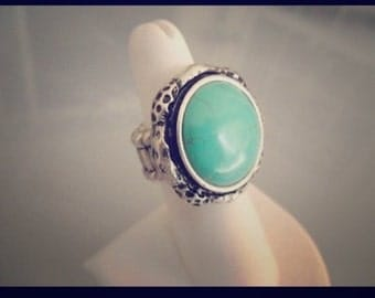 Turquois stretch ring