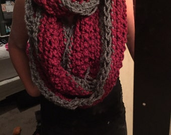 Custom made // Crochet Infinity Scarf // Extra long // Pick your own color