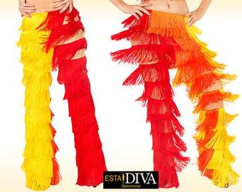 Fringe Pants - Ardorosa, Latin Fringe Pants,  Fringe Pants, Salsa Dance Pants, Salsa Fringe Pants