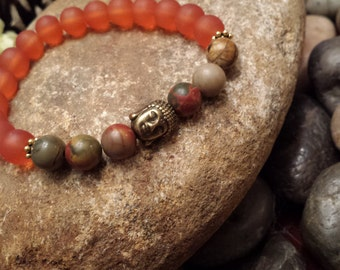 Buddha Meditation Yoga Adjustable Bead Charm Bracelet