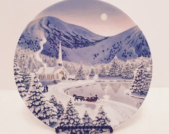 """1990 W.S. George Collector Plate """"Silent Night"""""""