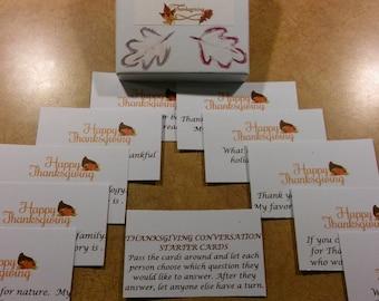 Thanksgiving Conversation Starter Cards