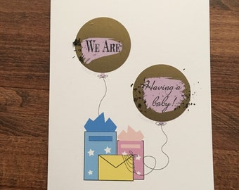 Scratch off Pregnancy Reveal Card, For Dads, Grandparents and Friends and Family
