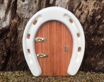 Miniature Fairy Horseshoe Door,Miniature Horseshoe Door,Miniature Handmade Door, Fairy Door,Miniature Fairy Garden Door,Miniature Gnome Door