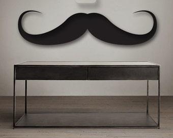 Moustache Sticker Handlebar Vinyl Decal, Spaghetti Moustache Sticker, moustache decal