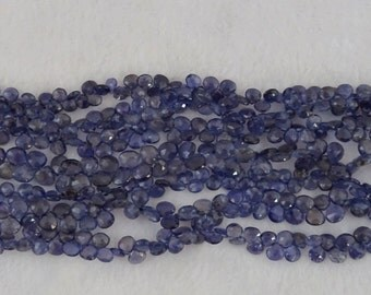 Iolite Graduated Faceted Hearts