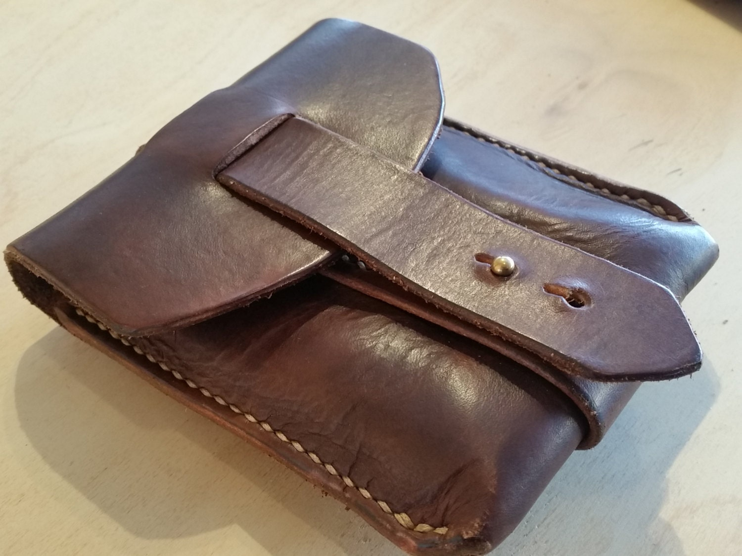 handmade leather belt pouch bag