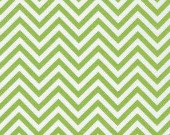 Fabric, Robert Kaufman, Remix, Lime Chevron Fabric, Quilting Cotton Fabric