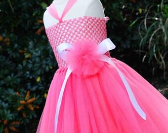 Ready To Ship Shocking Pink Tutu Dress Size 4-8