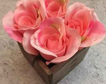 Light Pink Floral Arrangement - Silk Roses