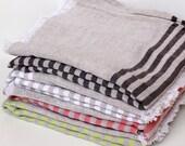 Striped Linen Bath Sheet | Beach Towel / Cover up / Fouta / Sarong | Natural Linen Cotton Turkish Towel Peshtemal Spa Sauna Gym Yoga Hammam