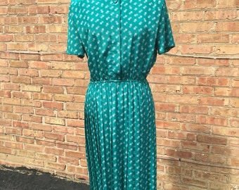 Vintage Turquoise Shirt Dress Size M