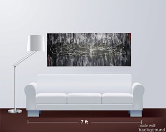 Original Acrylic Black and White Painting