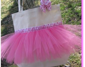 Dance Bag, tutu tote bag, ballet tote bag, dance bags, ballet bag, gift tote, tutu bag, Personalized Tutu Ballet Bag
