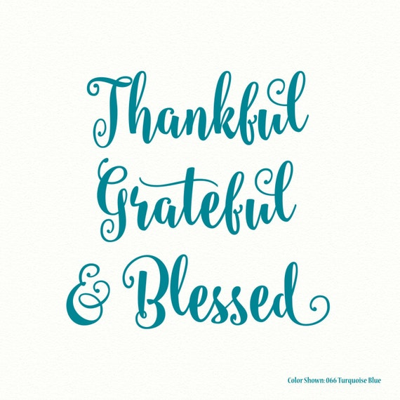 Thankful For Family Quotes: Thankful Grateful Blessed Religious Wall Decal Vinyl Wall