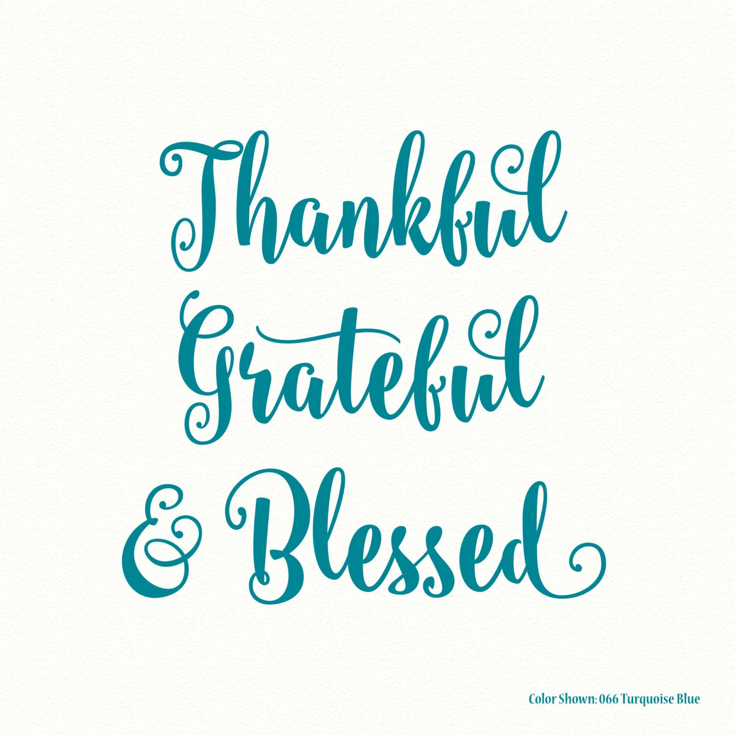 Thankful Grateful Blessed Religious Wall Decal Vinyl Wall