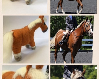 Custom Needle Felted Chubby Horse