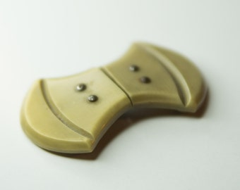 Antique Bone Colored Bakelite Clothing Clasp