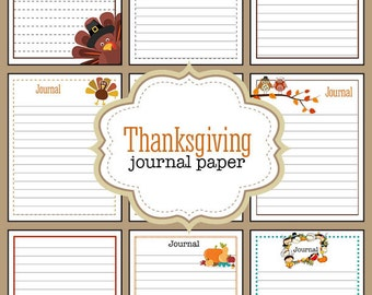 9 Thanksgiving Themed Printable Journal Pages