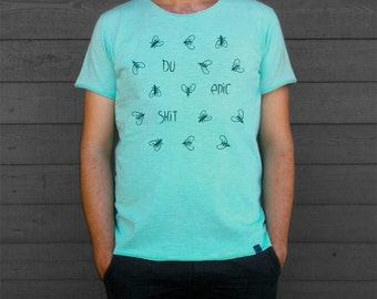 Men's and Women's T Shirt with Fly print