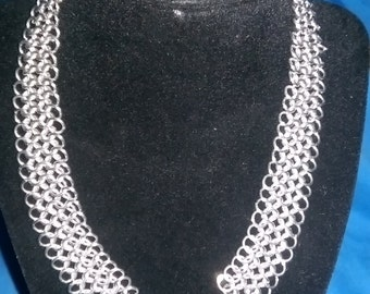 """18"""" Chainmaille Choker, Stainless Steel"""