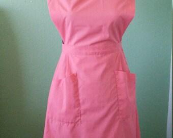 1940s coral jumper dress