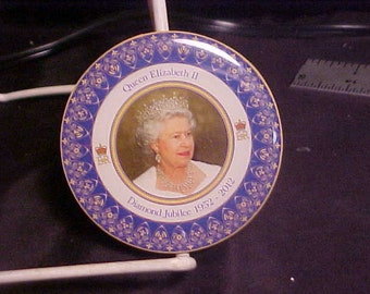 Queen elizabeth diamond jubilee English circular  souvenir Jack of bath