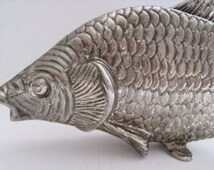 Vintage Silver Plated Carp Modello Depositato Made in Italy Napkin Holder