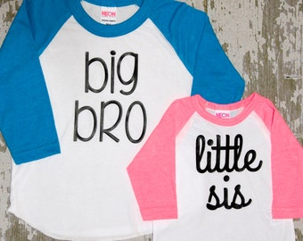 Big Bro and Little Sis Raglan Set