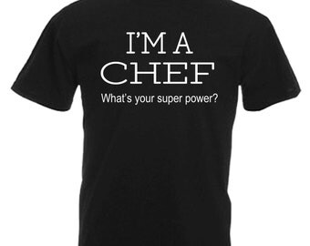 Chef Adults Mens Black T Shirt Sizes From Small - 3XL