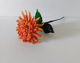 Crochet Flower Fire Cracker Dahlia, Crochet Flower Pattern, Crochet Flowers, DIY Flower, Crochet