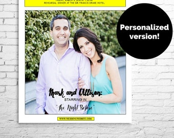 Personalized PLAYBILL Broadway POSTER or CENTERPIECE for Wedding Reception, Rehearsal Dinner,  Bar or Bat Mitzvah, 1 Photo, Digital File