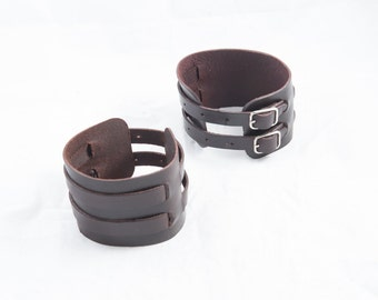 61 double leather cuff