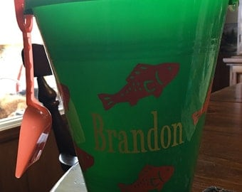 Personalized Sand Bucket with Shovel