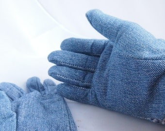 vintage 50's-60's ladies gardening denim gloves