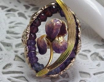 Sale!  50% Off...14k Art Nouveau Floral Ring