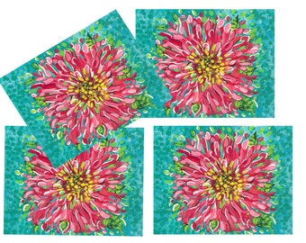 FREE SHIPPING!  Pink Blossom Placemats, set of 4