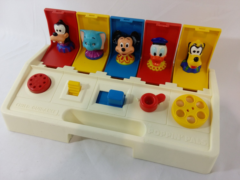 Toys That Pop Up : Vintage playskool disney pop up toy poppin pals child