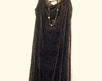 Brown Velvet & Silk Dress