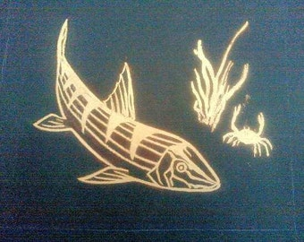 Bonefish Yellow gold art