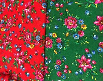 Folk floral fabric