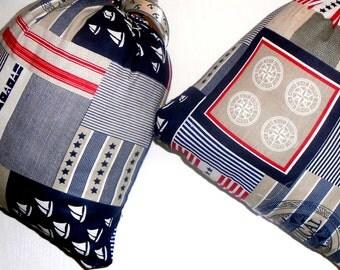 pillows, cushion, set of two pillows nautical print