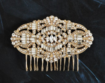 Gold Wedding Comb, Vintage Hair Comb, Bridal Hair Comb,  Bridal Vintage Headpiece, Gold Vintage Hair Comb, Headpiece Vintage