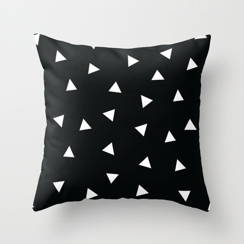 Black and White Pillow Black and White Modern Pillow