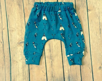 Tribal Baby Pants- Bow and Arrow baby boy pants- Teepee pants