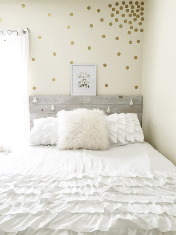 polka dot wall confetti gold polka dot decals wall decals. Black Bedroom Furniture Sets. Home Design Ideas